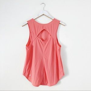 Lululemon Coral Colored Tank Top Cut Out Back